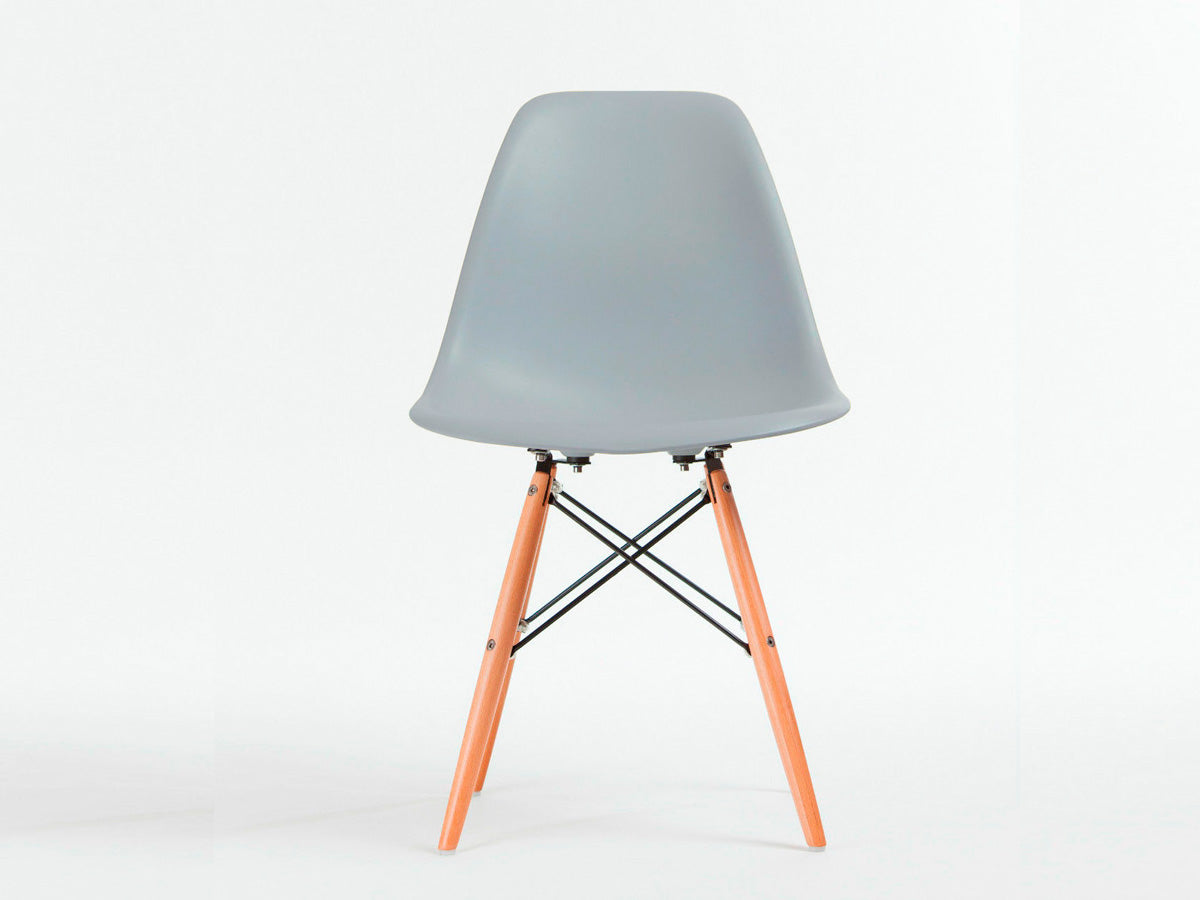 Set Of 4 X Replica Eames Eiffel DSW Dining Chair (Grey)