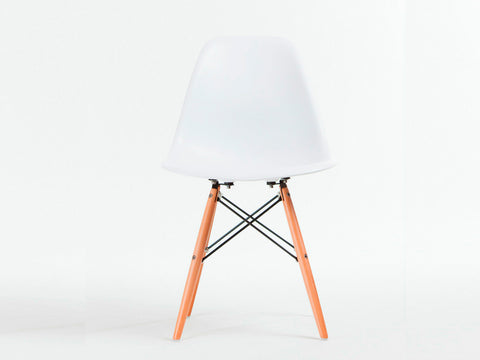 Set of 6 x Replica Eames Eiffel DSW Dining Chair (White)