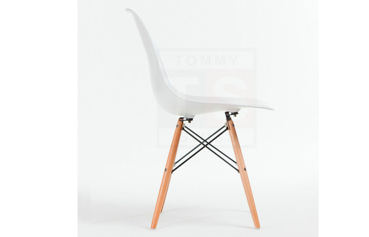 Set of 8 x Replica Eames Eiffel DSW Dining Chair (White)