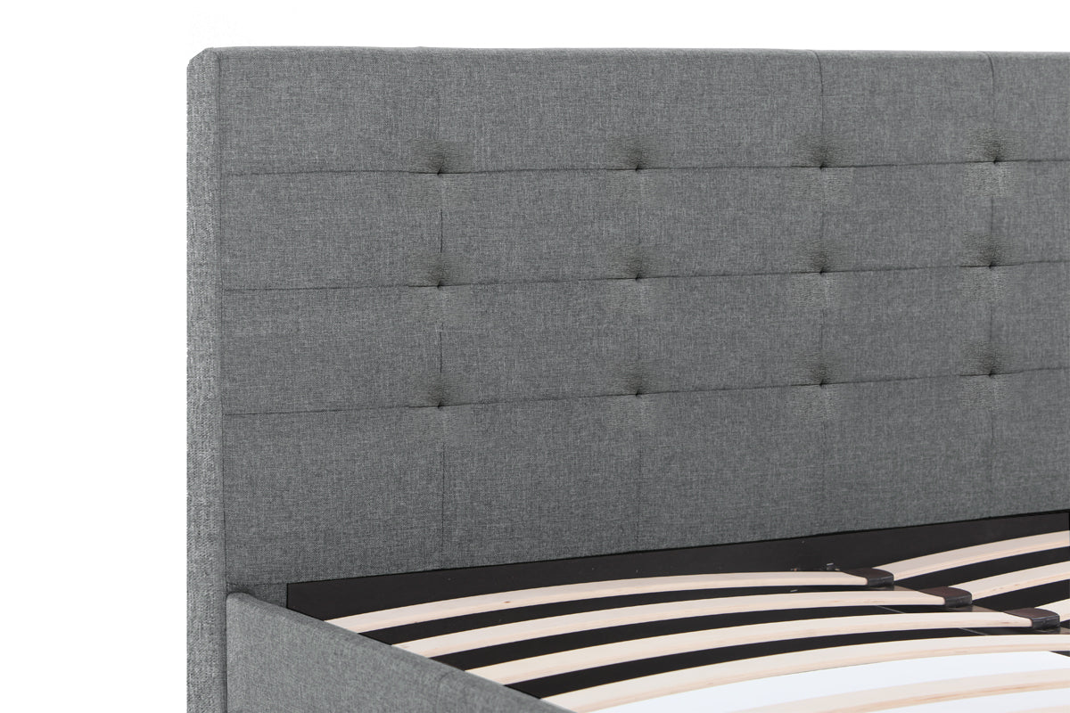 Kensington Fabric Bed Frame (Grey)