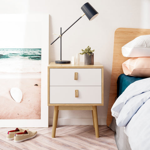 Wooden Bedside Table (Odette Collection)