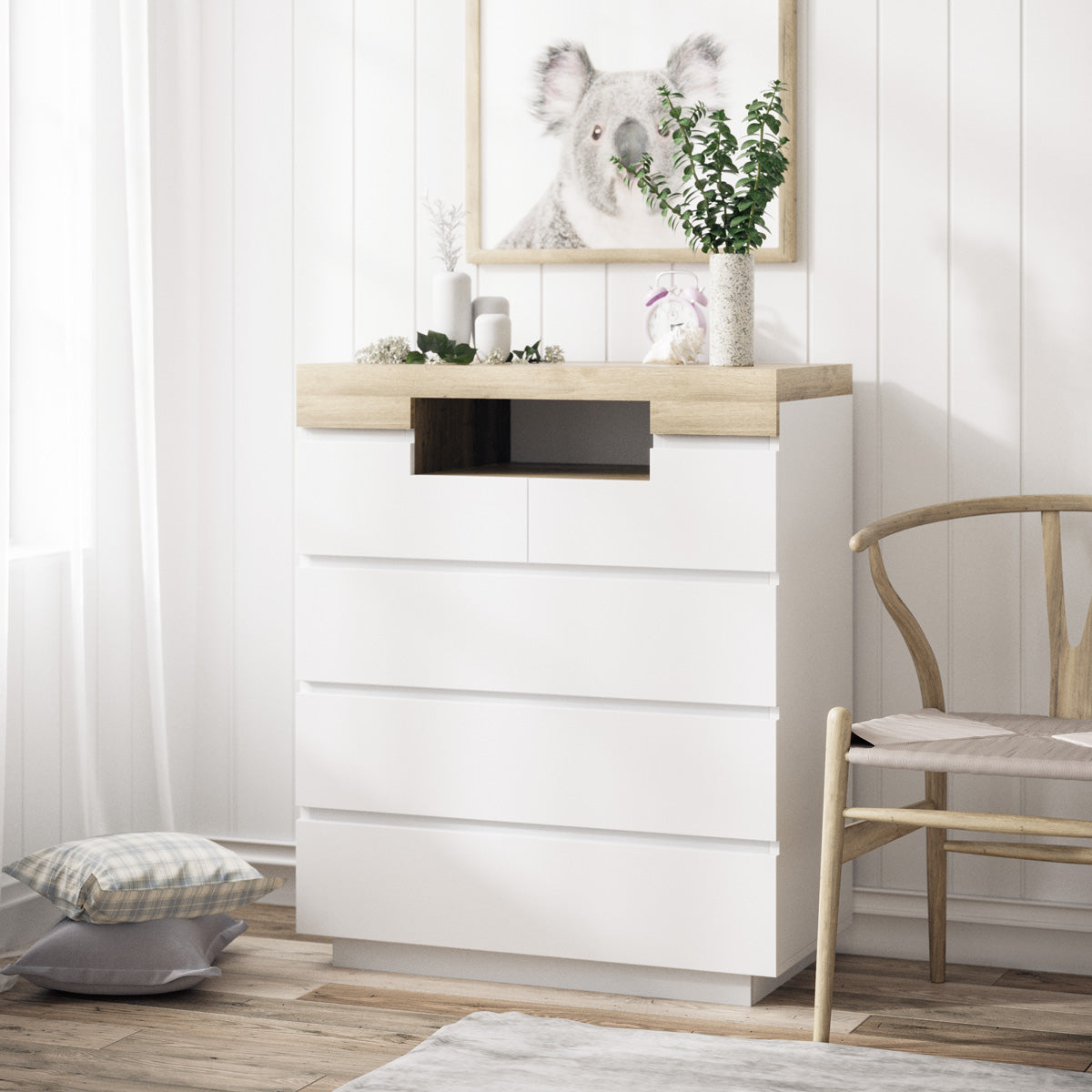 Five Drawer Tallboy Unit (Coogee Collection)