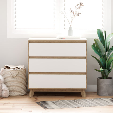 Three Drawer Wooden Bedroom Chest of Drawers (Kinfolk Collection)