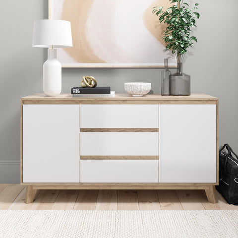 Sideboard Buffet Wooden Unit (140cm Kinfolk Collection)