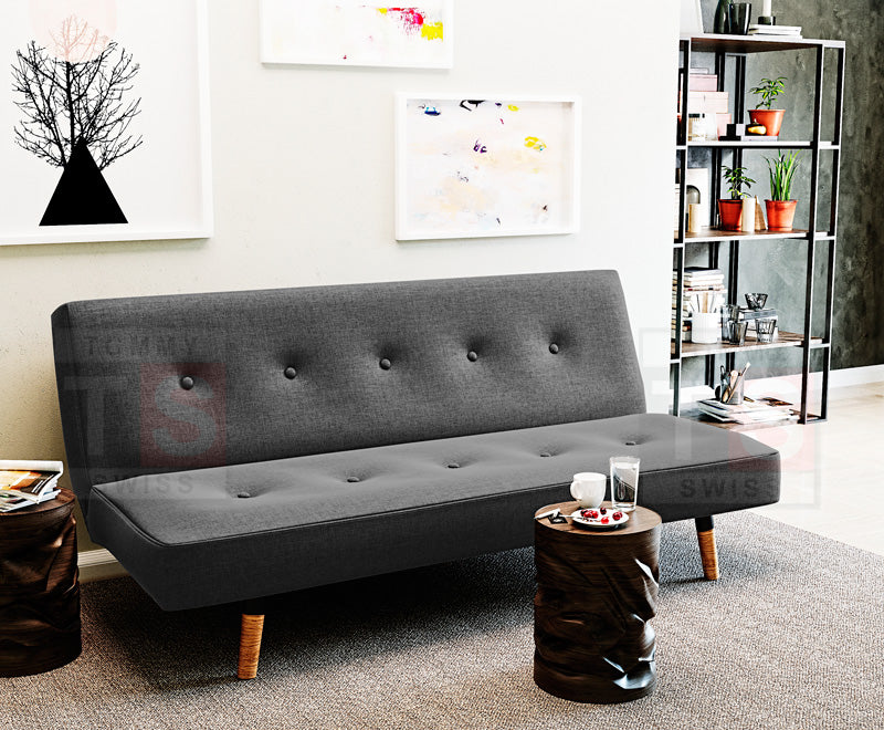 Henley Fabric Sofa Bed (Charcoal)