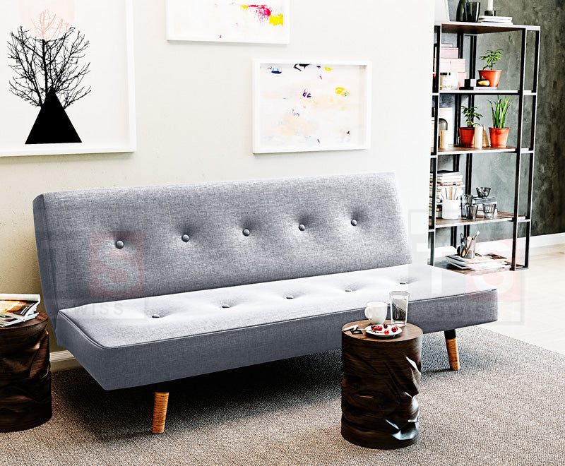 Henley Fabric Sofa Bed (Grey)