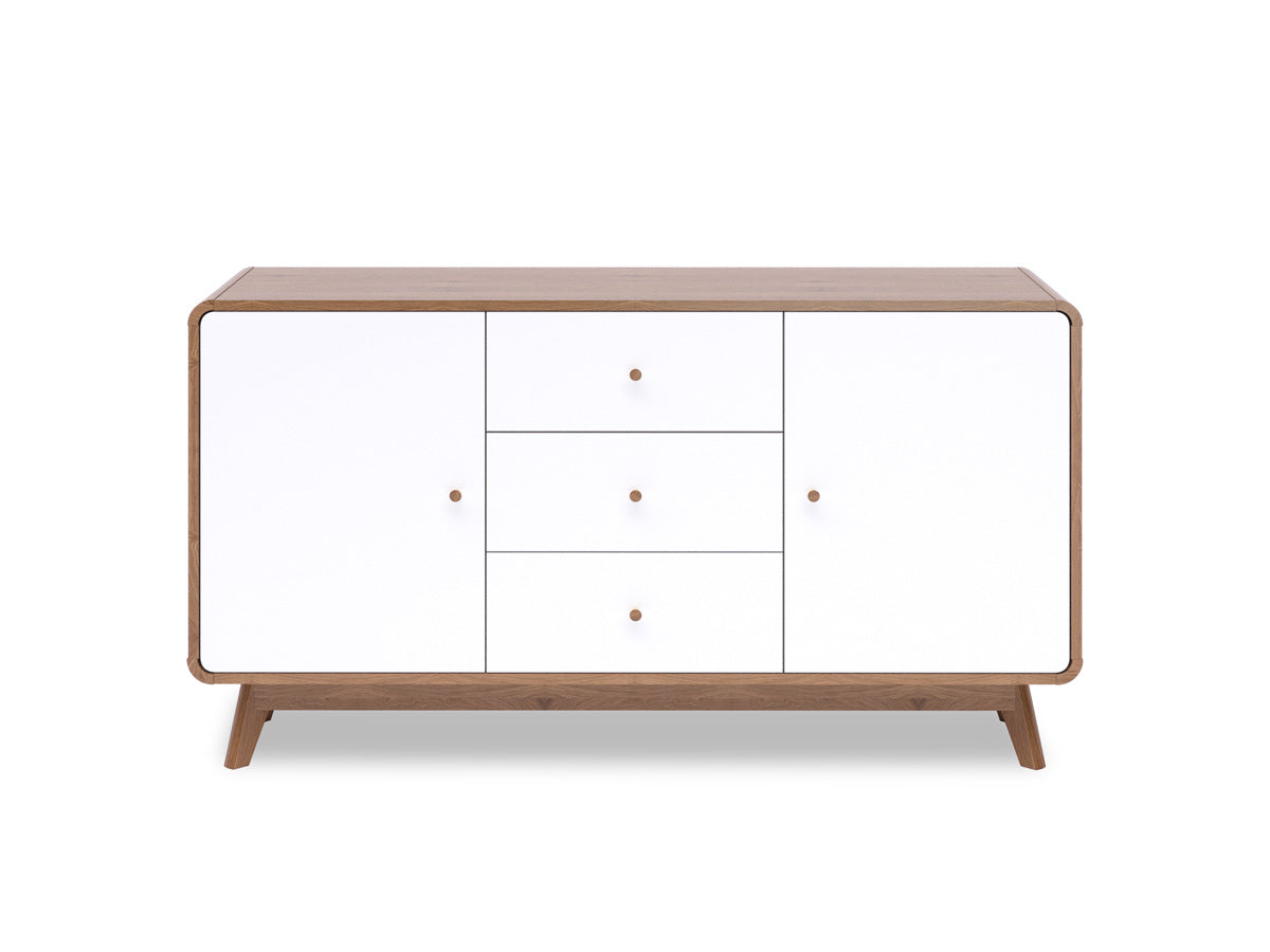 Sideboard Buffet in Walnut Colour (Freya Collection)