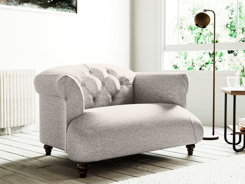 Hemingway Single Seater Fabric Armchair (Stone Beige)