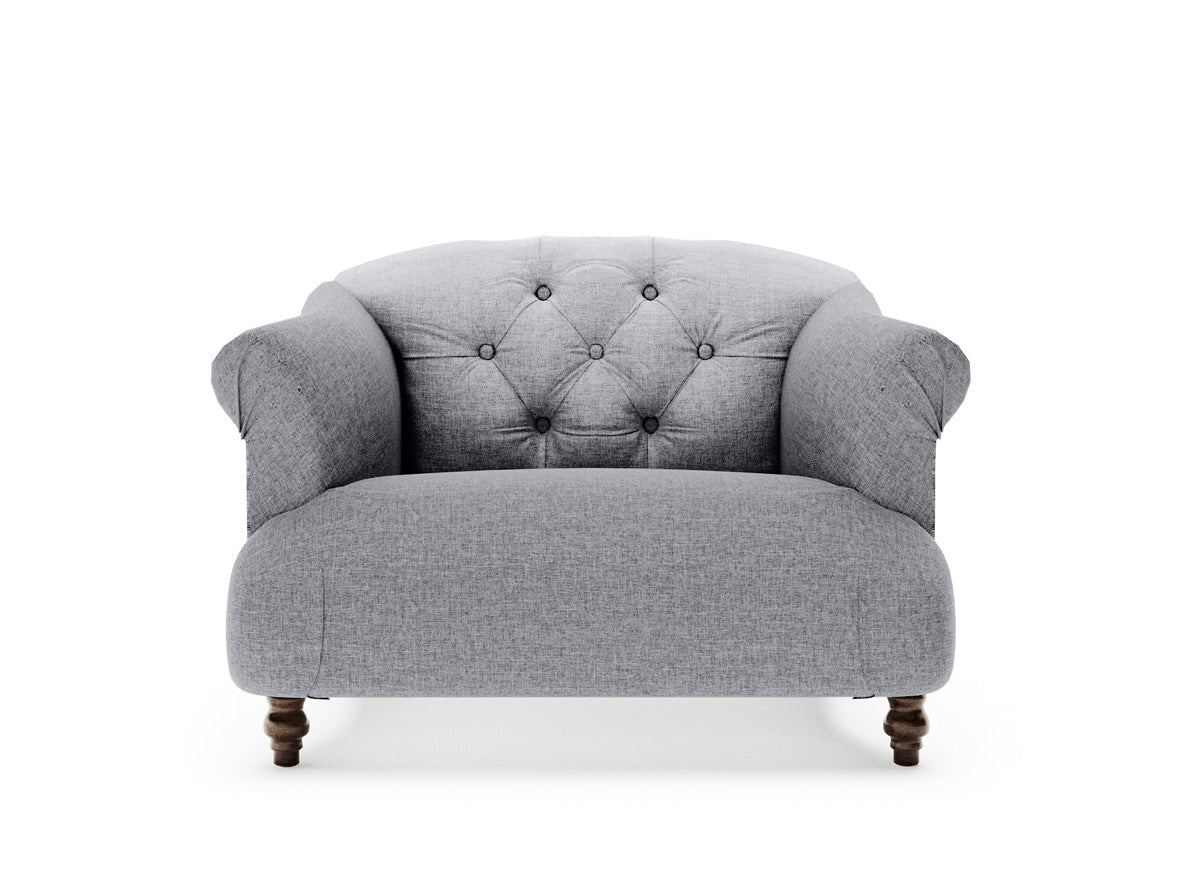 Hemingway Single Seater Fabric Armchair (Grey)