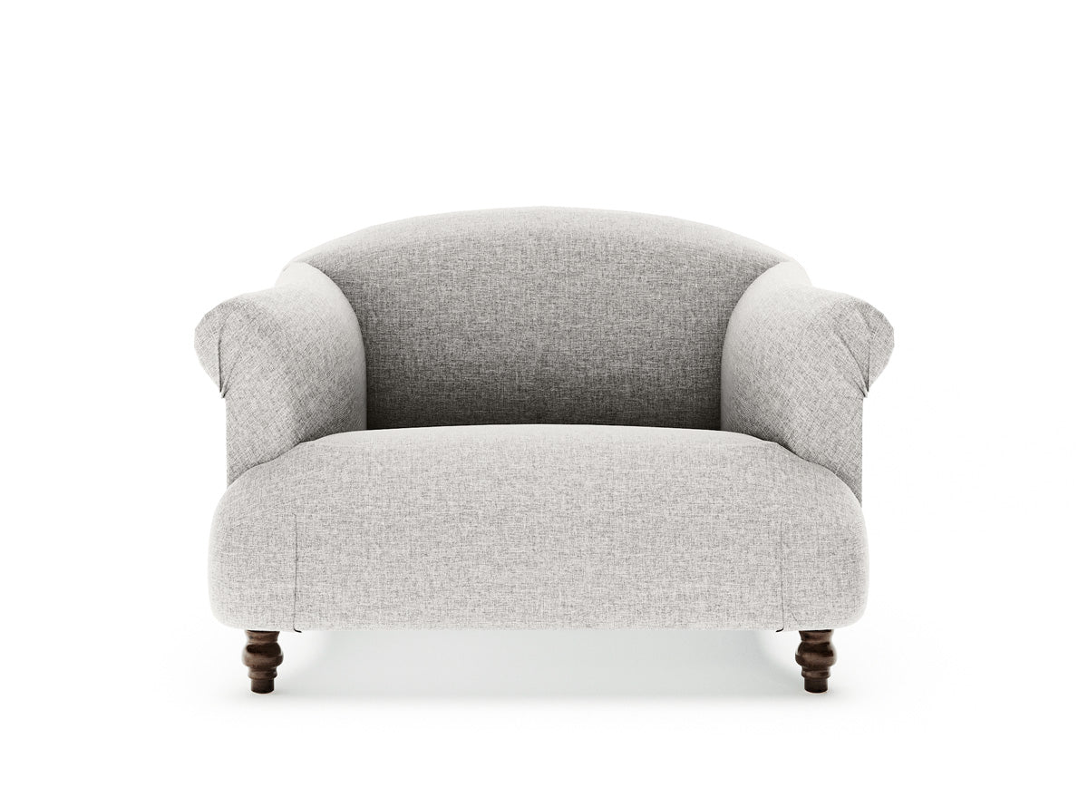 Dempsey Single Seater Fabric Armchair (Stone Beige)