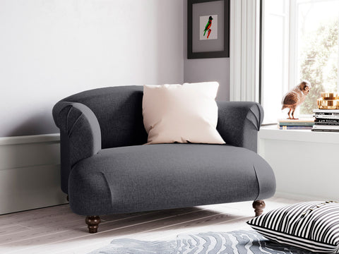 Dempsey Single Seater Fabric Armchair (Charcoal)