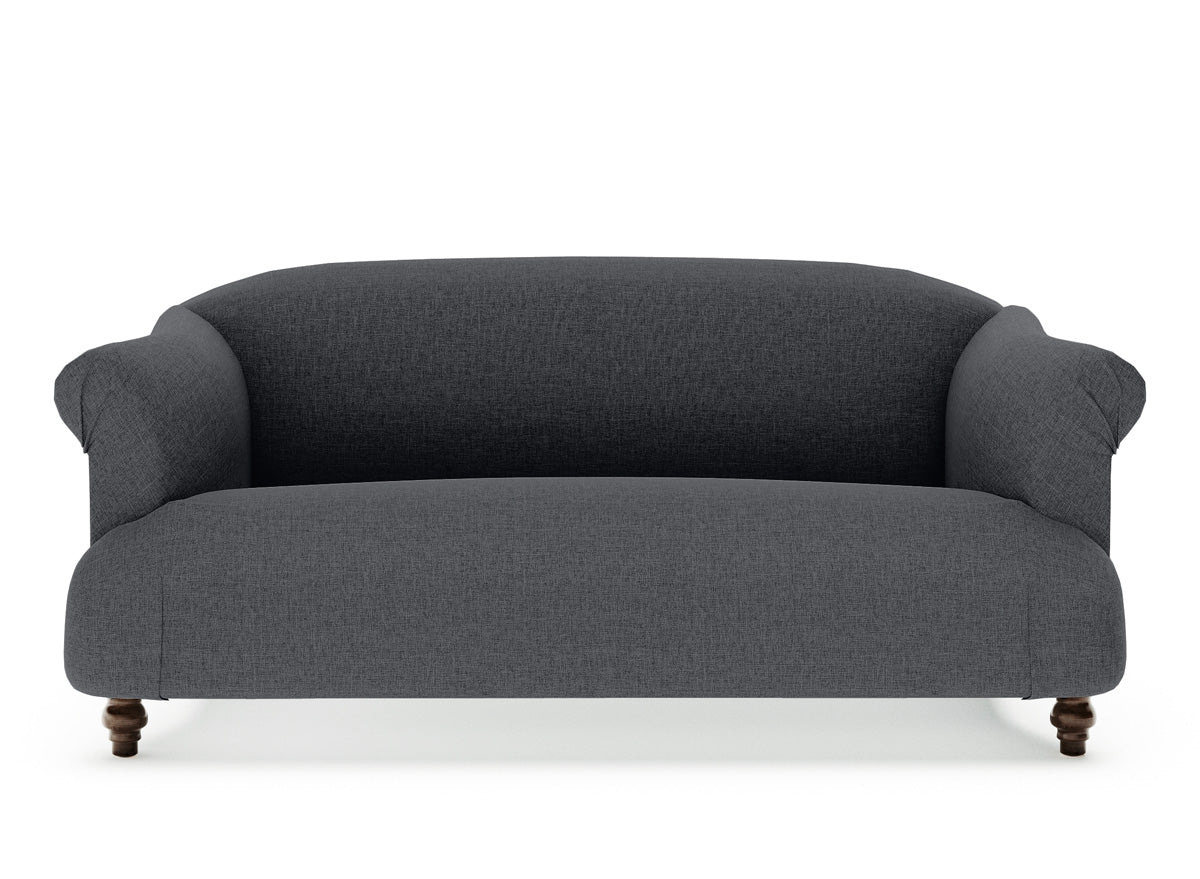 Dempsey 2 Seater Fabric Sofa (Charcoal)