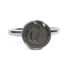 10mm Circle Simple Band Cremation Ring in Sterling Silver