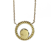 12mm Open Diamond Halo Cremation Necklace in 14K Yellow Gold