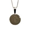 16mm Circle Cremation Necklace in Sterling Silver