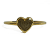 5mm Heart Simple Band Cremation Ring in 14K Yellow Gold
