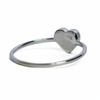 5mm Heart Simple Band Cremation Ring in 14K White Gold