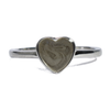 8mm Heart Simple Band Cremation Ring in Sterling Silver