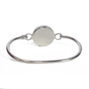 Bangle Clasp Bracelet with Circle Cremation Setting in Sterling Silver