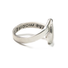 Crescent Moon Cremation Ring in Sterling Silver
