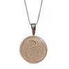 25mm Circle Cremation Necklace in Sterling Silver