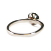 5mm Circle Simple Band Cremation Ring in 14K White Gold