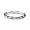 Oval Cremation Ring and Two Companion Stacking Rings in Sterling Silver