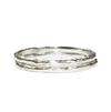 Pear Cremation Ring and Two Companion Stacking Rings in Sterling Silver