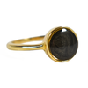 8mm Circle Simple Band Cremation Ring in 14K Yellow Gold