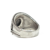 Cigar Band Cremation Ring in Sterling Silver