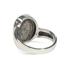 Shifted Band Cremation Ring in Sterling Silver
