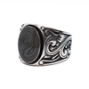 Floral Art Deco Band Cremation Ring in Sterling Silver