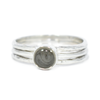 5mm Circle Cremation Ring and Two Companion Stacking Rings in Sterling Silver