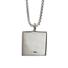 Square Cremation Cremation Necklace with 2.5mm Chain in Sterling Silver