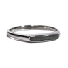 Smooth Band Cremation Ring in 14K White Gold