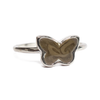 Butterfly Stacking Cremation Ring in Sterling Silver