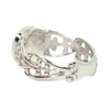 Filigree Band Cremation Ring with Bow Detail in Sterling Silver