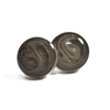 Sterling Silver Circular Stud Cremation Earrings