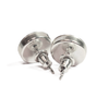 Sterling Silver Circular Stud CremationEarrings