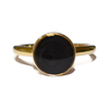 10mm Circle Simple Band Cremation Ring in 14K Yellow Gold