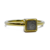 6mm Square Stacking Cremation Ring (Old Design) in 14K Yellow Gold
