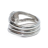 Three Band Cremation Ring in Sterling Silver