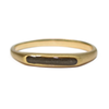 Brushed Smooth Band Cremation Ring in 14K Yellow Gold