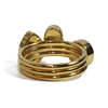 Three Stacking Cremation Rings in 14k Yellow Gold