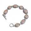 Eight-Setting Cremation Bracelet in Sterling Silver
