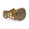 Filigree Band Cremation Ring with Bow Detail in 14k Yellow Gold