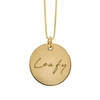 Circle Necklace with Handwriting Engraving in 14/20 Yellow-Gold Filled