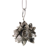 Handmade Magnolia Cremation Necklace in Sterling Silver