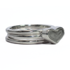 Heart Cremation Ring and Two Companion Stacking Rings in Sterling Silver