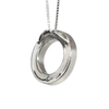 Large Eternity Cremation Necklace in Sterling Silver